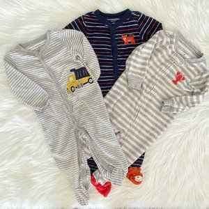 Carters Baby Boy Terry Cloth Footsie Set of 3 9M